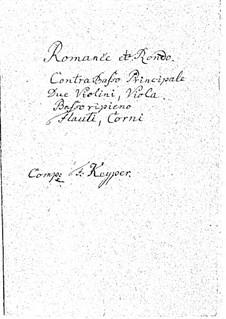Romanze und Rondo für Kontrabass und Orchester: Stimmen by Franz Keyper