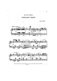 Hunyadi László: Ungarischer Marsch, für Klavier by Ferenc Erkel