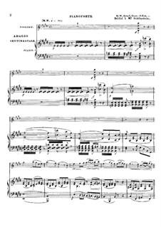 Adagio Sentimentale für Violine und Klavier, Op.13: Adagio Sentimentale für Violine und Klavier by Heinrich Wilhelm Ernst