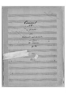 Cellokonzert Nr.4 in a-Moll, Op.61: Partitur für Cello und Klavier by Franz Neruda