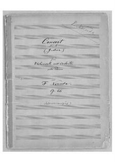 Cellokonzert Nr.5 in G-Dur, Op.66: Partitur für Cello und Klavier by Franz Neruda