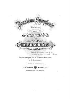 Sinfonie Nr.2 in h-Moll: Partitur by Alexander Porfiryevich Borodin