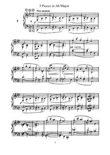 L'Organiste. Neunundfünfzig Stücke für Harmonium: Drei Stücke in As-Dur by César Franck