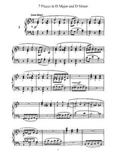 L'Organiste. Neunundfünfzig Stücke für Harmonium:  Sieben Stücke in D-Dur und d-Moll by César Franck