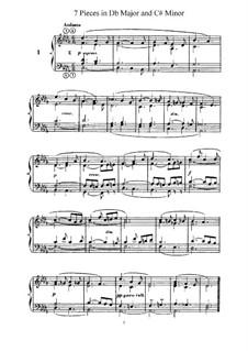 L'Organiste. Neunundfünfzig Stücke für Harmonium: Sieben Stücke in Des-Dur und cis-Moll by César Franck