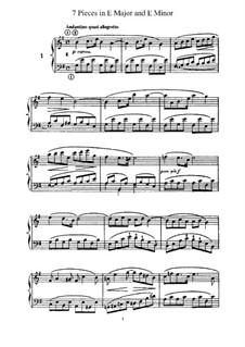 L'Organiste. Neunundfünfzig Stücke für Harmonium: Sieben Stücke in E-Dur und e-Moll by César Franck