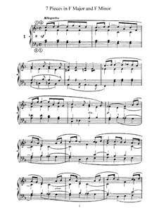 L'Organiste. Neunundfünfzig Stücke für Harmonium: Sieben Stücke in F-Dur und f-Moll by César Franck