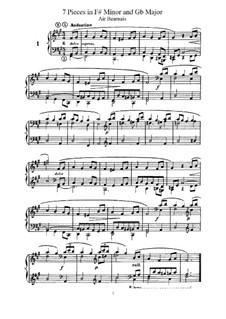 L'Organiste. Neunundfünfzig Stücke für Harmonium: Sieben Stücke in fis-Moll und Ges-Dur by César Franck
