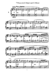 L'Organiste. Neunundfünfzig Stücke für Harmonium: Sieben Stücke in G-Dur und g-Moll by César Franck