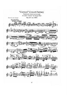 Fantasie über Themen aus 'Carmen' von Bizet, Op.25: Bearbeitung für Violine und Klavier – Solo Stimme by Pablo de Sarasate