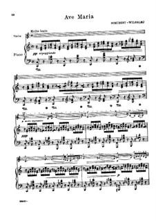 Ave Maria, für Zwei Instrumente, D.839 Op.52 No.6: Für Violine und Klavier in C-Dur by Franz Schubert