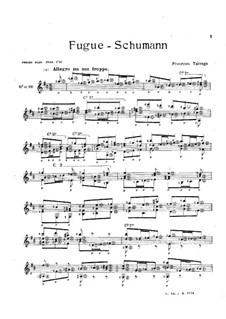 Fuge in D-Dur: Fuge in D-Dur by Robert Schumann