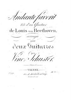 Andante über Quartett von L. van Beethoven, Op.5: Andante über Quartett von L. van Beethoven by Vincenz Schuster