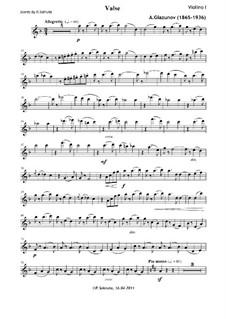 Fünf Noveletten für Streichquartett, Op.15: Novelette Nr.4 'Walzer' – Stimmen by Alexander Glazunov
