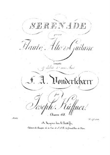 Serenade für Flöte, Bratsche und Gitarre, Op.64: Serenade für Flöte, Viola und Gitarre by Josef Küffner