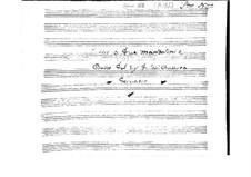 Trio für zwei Mandolinen und Basso Continuo: Vollpartitur by Giovanni Battista Gervasio
