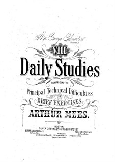 Eight Daily Studies: Eight Daily Studies by Arthur Mees
