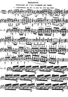Variationen über Allemande von Haydn: Variationen über Allemande von Haydn by Wenzel Thomas Matiegka