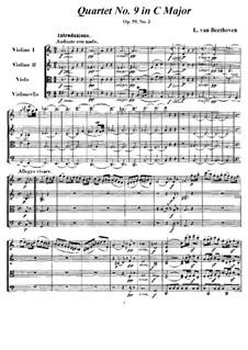 Streichquartett Nr.9 in C-Dur, Op.59 No.3: Partitur und Stimmen by Ludwig van Beethoven