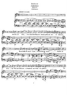Andenken, WoO 136: Klavierauszug mit Singstimmen by Ludwig van Beethoven