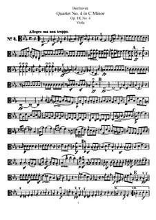 Quartett Nr.4 in c-Moll: Bratschenstimme by Ludwig van Beethoven