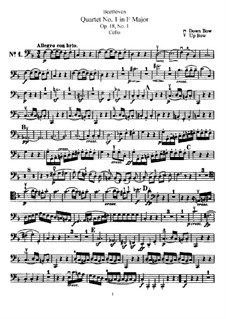 Quartett Nr.1 in F-Dur: Cellostimme by Ludwig van Beethoven