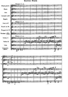 Teil IV. Gewitter, Sturm: Partitur by Ludwig van Beethoven