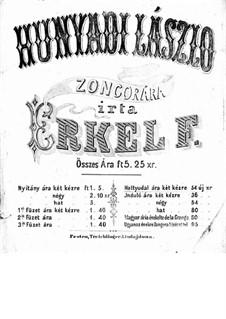 Hunyadi László: Movement V, for piano by Ferenc Erkel
