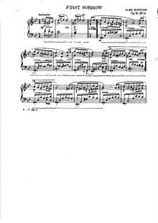 Musikalische Bilder aus dem Kinderleben, Op.52: Nr.11 Erster Kummer by Alexander Kopylow