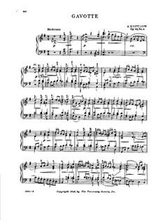 Musikalische Bilder aus dem Kinderleben, Op.52: Nr.3 Miniatur-Gavotte by Alexander Kopylow