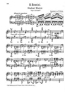 Stabat Mater: Nr.2 Cujus animam, für Klavier by Gioacchino Rossini