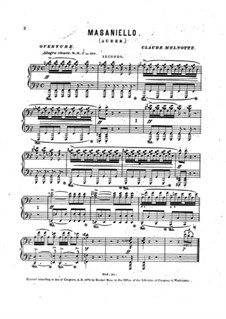 Ouvertüre: Für Klavier, vierhändig by Daniel Auber