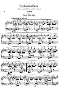 Fantasiestücke, Op.12: Nr.1 Des Abends by Robert Schumann
