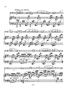 Sonate für Cello und Klavier in A-Dur, Op.58: Teil III by Emil Sjögren