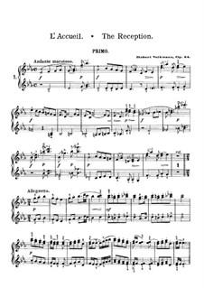 Ungarische Skizzen, Op.24: Nr.1 Zum Empfange – Klavierstimme I by Robert Volkmann