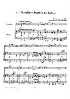 Ungarische Skizzen, Op.24: Partitur für Cello und Klavier by Robert Volkmann
