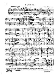 Tschechische Tänze II, T.112/2: No.5 Cibulička (The Little Onion) by Bedřich Smetana