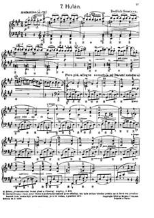 Tschechische Tänze II, T.112/2: No.7 Hulán (The Lancer) by Bedřich Smetana