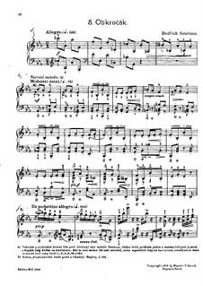 Tschechische Tänze II, T.112/2: No.8 Obkročák (Step Dance) by Bedřich Smetana