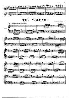 Vltava (Die Moldau), T.111: Für zwei Flöten by Bedřich Smetana