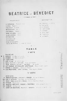 Beatrice und Benedict, Op.27: Klavierauszug mit Singstimmen by Hector Berlioz