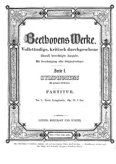 Vollständiger Sinfonie: Partitur by Ludwig van Beethoven