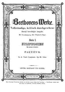 Sinfonie Nr.4, Op.60: Partitur by Ludwig van Beethoven