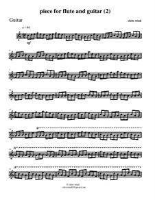 Piece for flute and guitar (2): Gitarrenstimme by Chris Wind