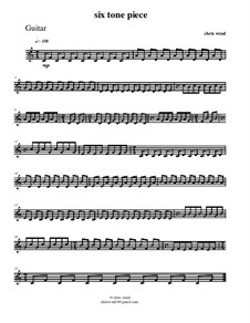 Six tone piece for flute and guitar: Gitarrenstimme by Chris Wind