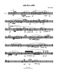 Solo for cello: Solo for cello by Chris Wind
