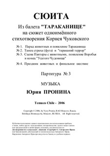 Suite of the music from ballet 'Terrible Cockroach' ('Cucarachon'): Teil III by Yury Pronin