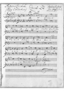 Sørge-Cantata: Soprano II part by Johann Adolph Scheibe