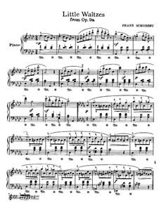 Achtzehn Walzer für Klavier, Op.9a: Walzer Nr.12, 14, 16, 1 by Franz Schubert