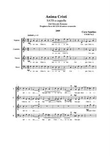 Anima Christi. SATB a cappella, CS148 No.2: Anima Christi. SATB a cappella by Santino Cara